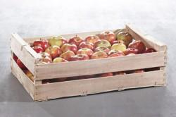 Produit de Cagette bois pommes 2 rangs